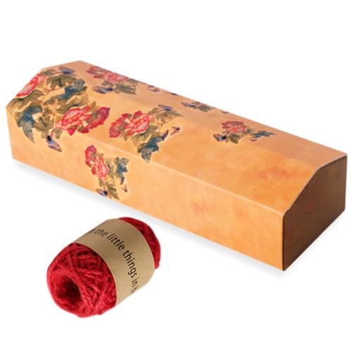 인디고샵 전통민화 나비 기다란 상자 15p + 레드마끈 10m, 혼합 색상, 1세트