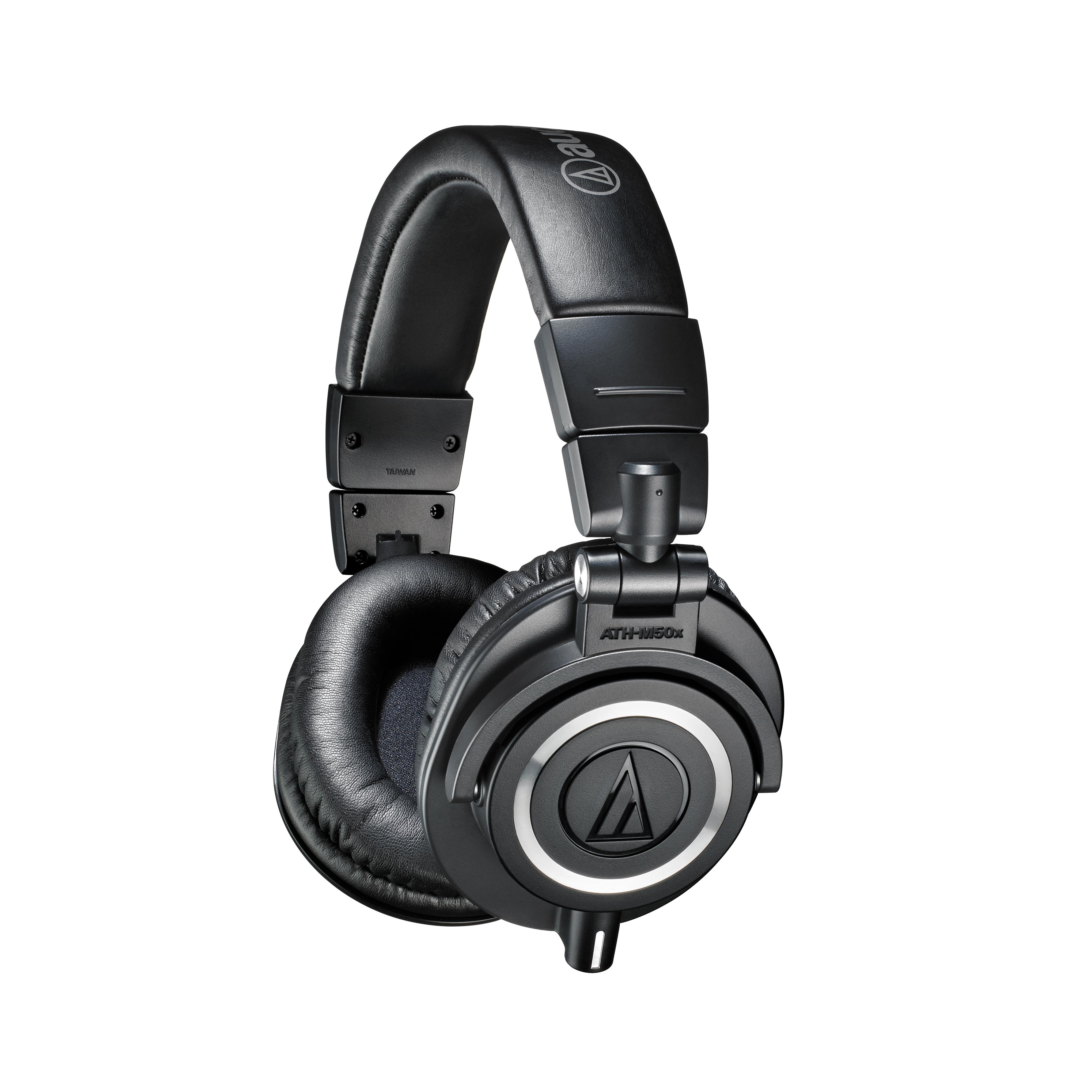오디오테크니카 오버이어 밀폐형 모니터링 헤드폰 ATH-M50x, 블랙