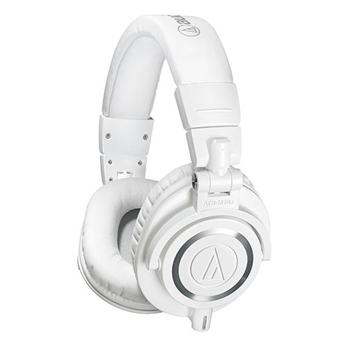 오디오테크니카 오버이어 밀폐형 모니터링 헤드폰 ATH-M50x, 화이트