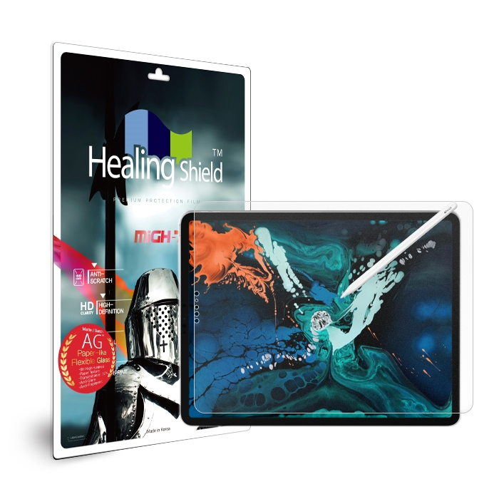 힐링쉴드 저반사 종이질감 지문방지 태블릿PC 강화유리필름, 단일 색상