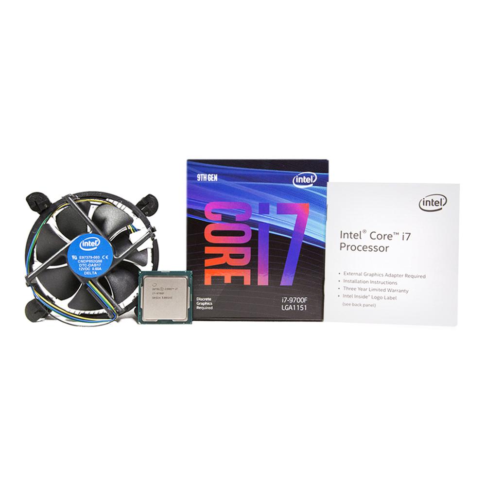 인텔 코어 i7-9700F 커피레이크-R CPU, 단일 상품