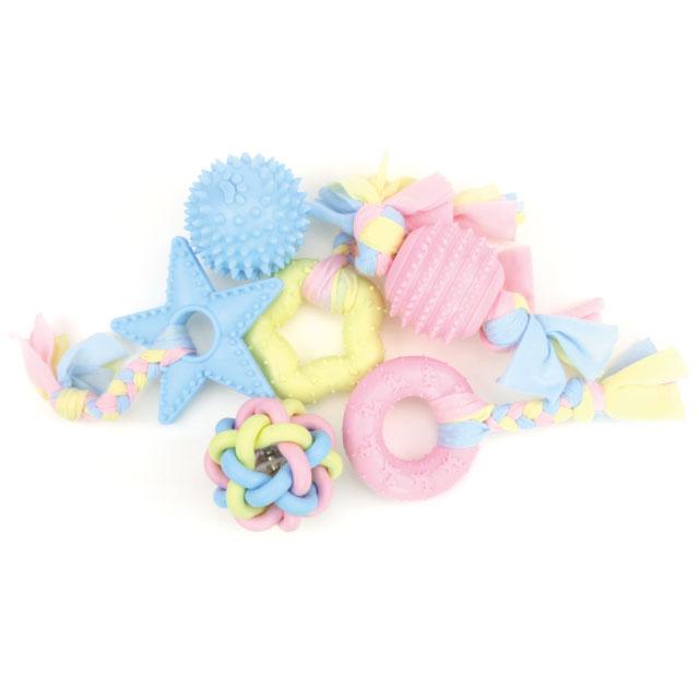 리스펫 강아지 노즈워크 터그장난감 파스텔러버 세트1, 핑크 + 블루 + 옐로우, 1세트