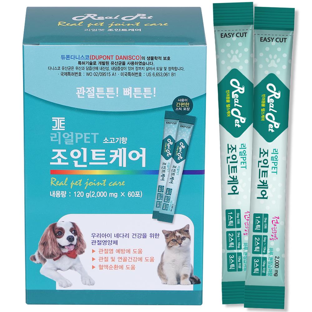 리얼펫 조인트케어 강아지 영양제 60포, 관절건강, 1개