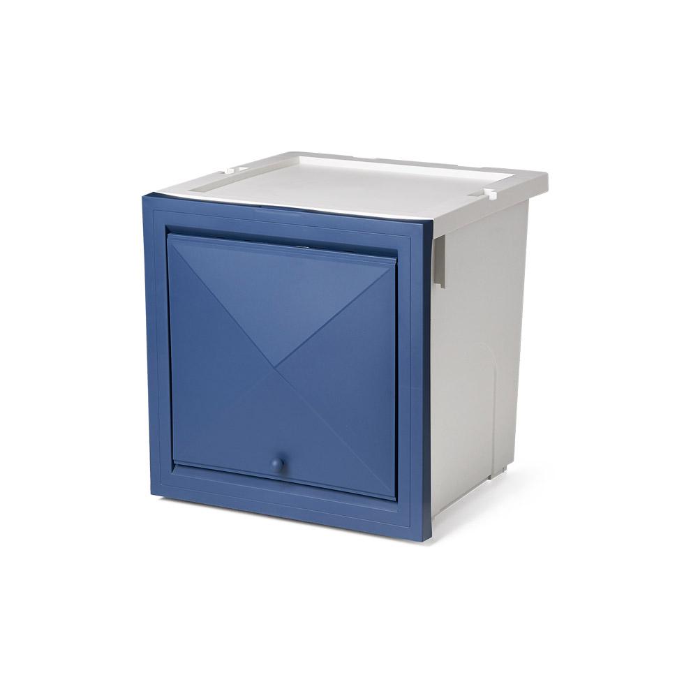 올맘 멀티 큐브박스 수납함 40L, 블루, 1개