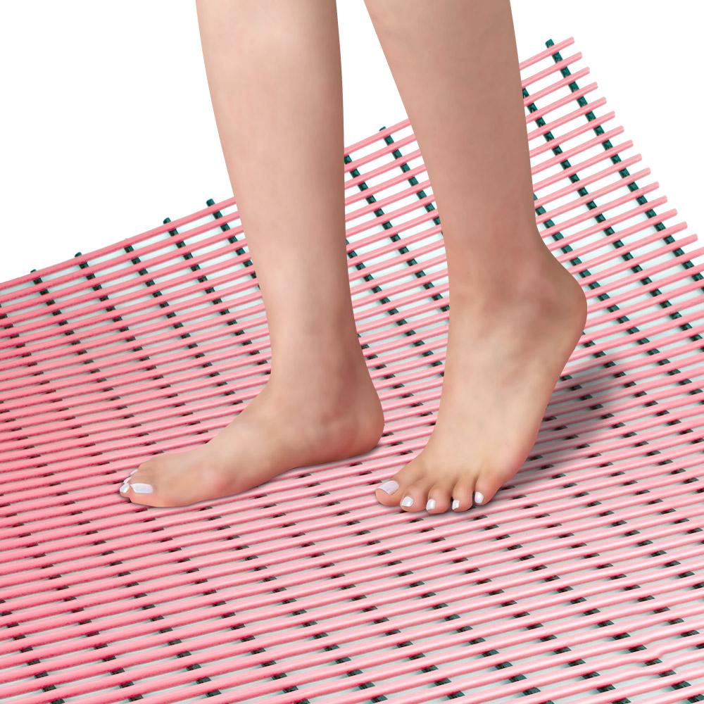 스칸디나 미끄럼방지매트 튜브형 60 x 100 cm, 핑크, 1개