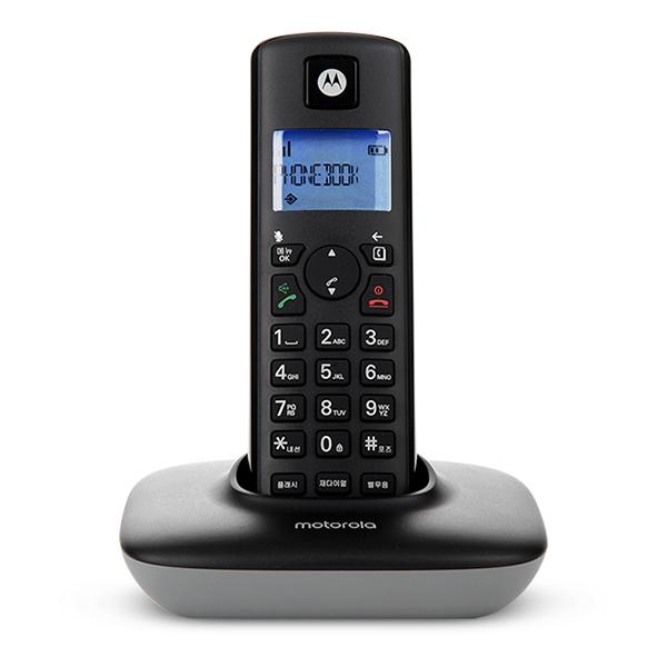 모토로라 무선 전화기 T401A+, xx(블랙)