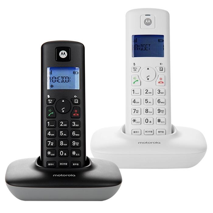 모토로라 무선 전화기 T401A+ 2p 세트 블랙 + 화이트