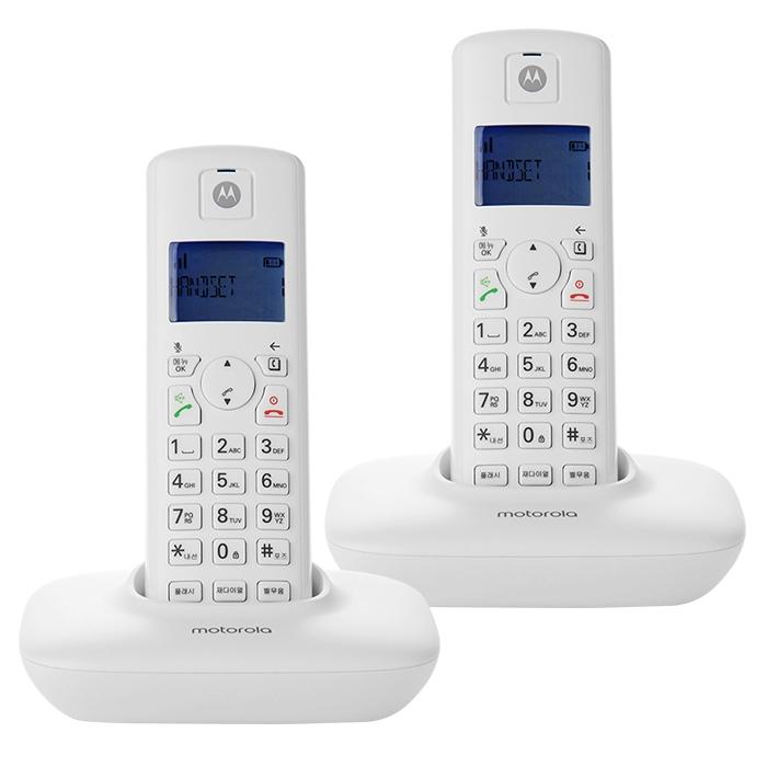 모토로라 무선 전화기 T401A+ 2p, T401A+(화이트)