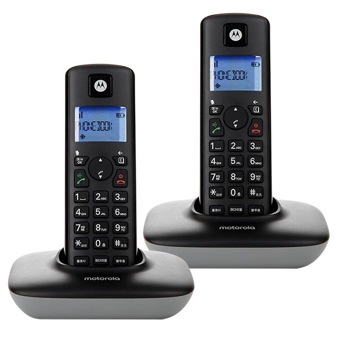 모토로라 무선 전화기 T401A+ 2p, T401A+(블랙)