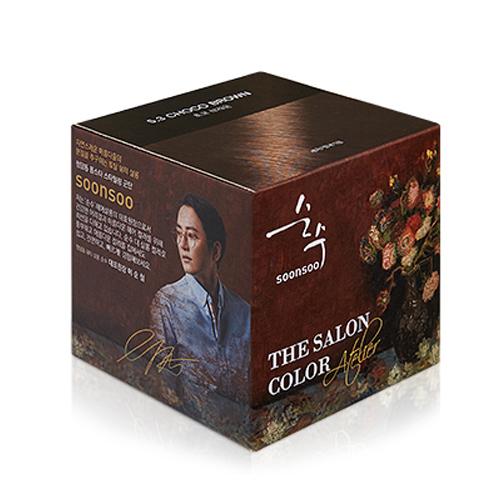 순수 더 살롱 컬러 아트컬렉션 염색제, 초코브라운, 1개