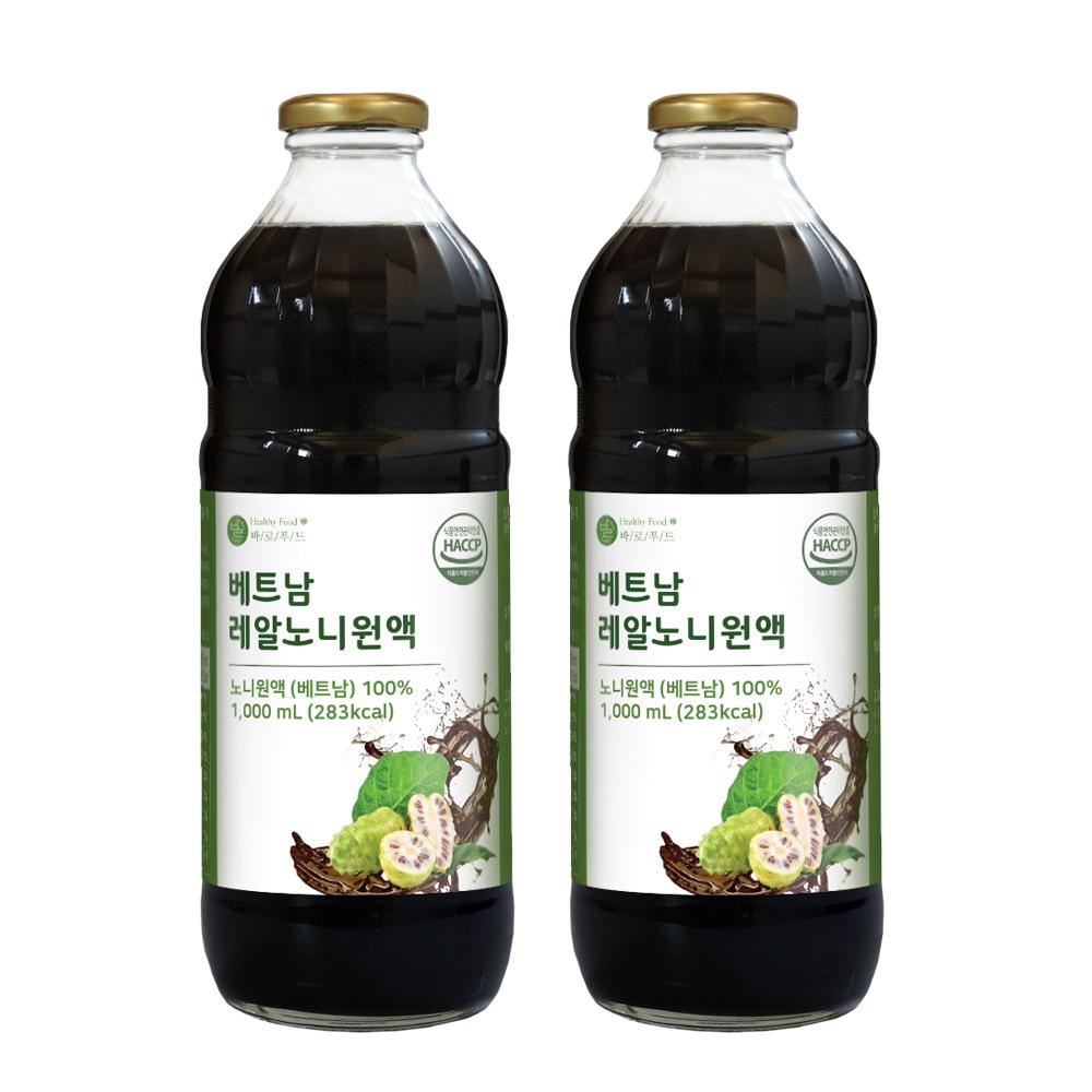 바로푸드 베트남 레알노니원액, 1L, 2개