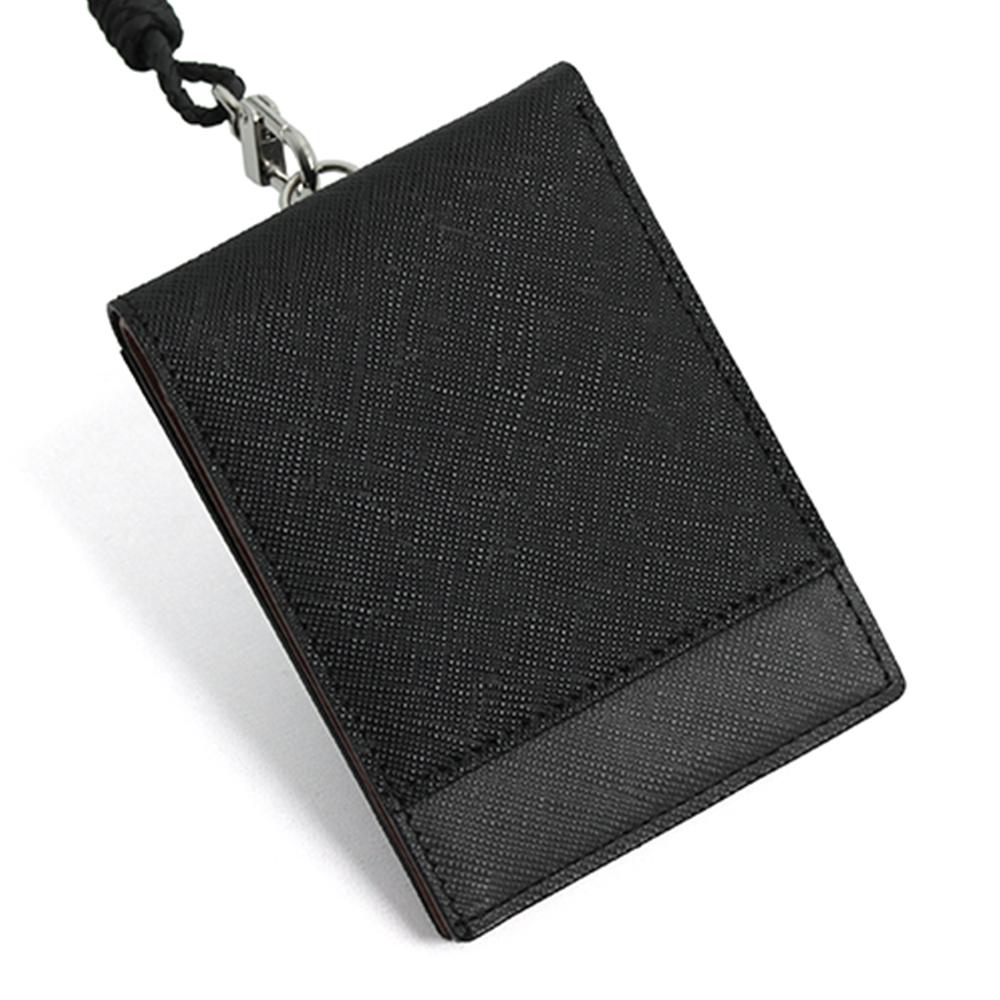 블랑플뢰르 소가죽 콤비 목걸이 카드지갑