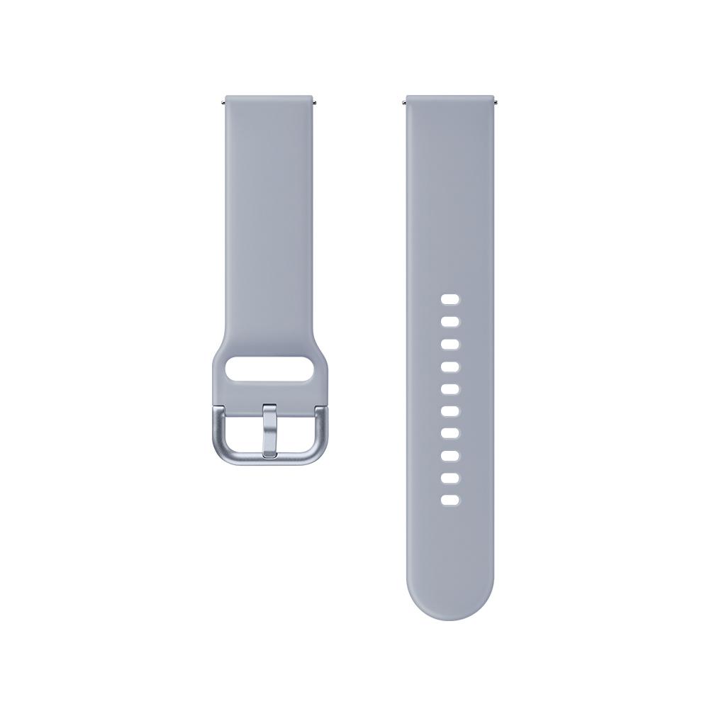 삼성전자 갤럭시 액티브 1/2/워치3 20mm 스포츠 스트랩 ET-SFR82 (40/41/42mm 호환 가능), 실버, 1개