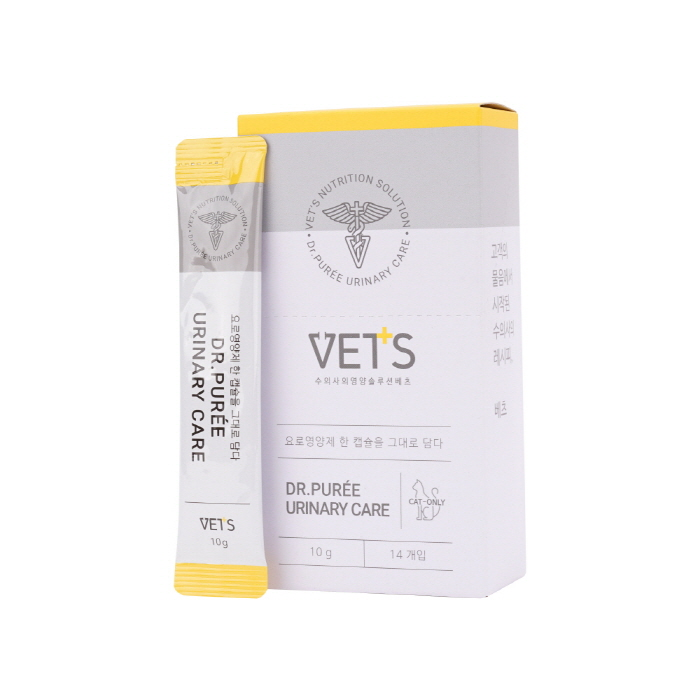 Vets 닥터퓌레 유리너리 케어 고양이 방광염 영양제, 닭고기맛, 14개입