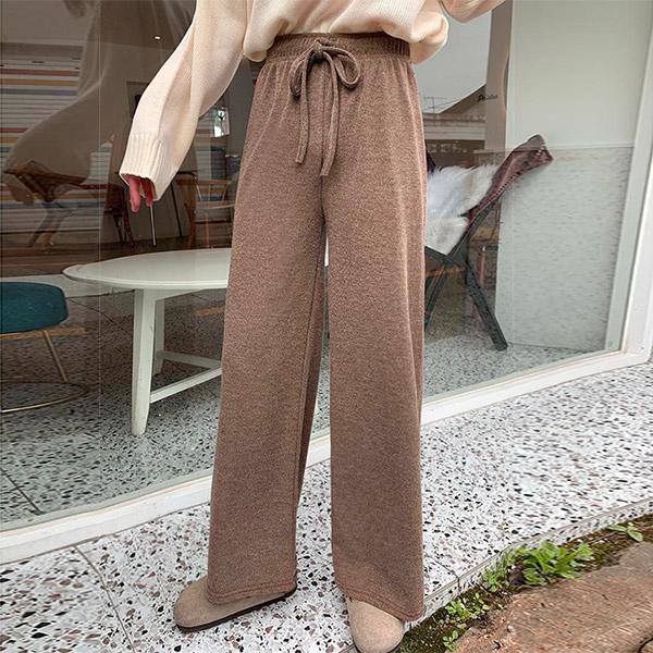 오키진 여성용 도톰보카시 밴딩팬츠
