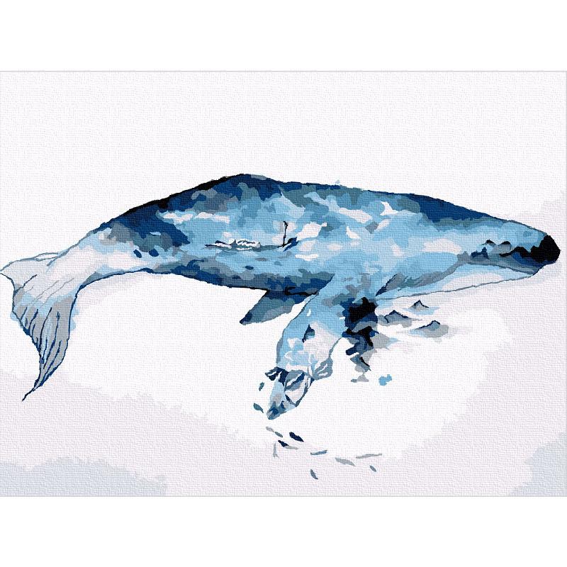 아트조이 DIY 명화그리기 물감 + 붓 세트 40 x 30 cm, 푸른 고래