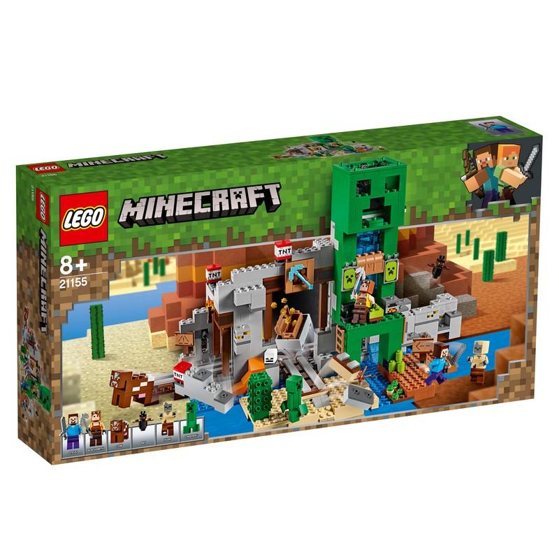 레고 마인크래프트 크리퍼TM 광산 21155, 혼합 색상