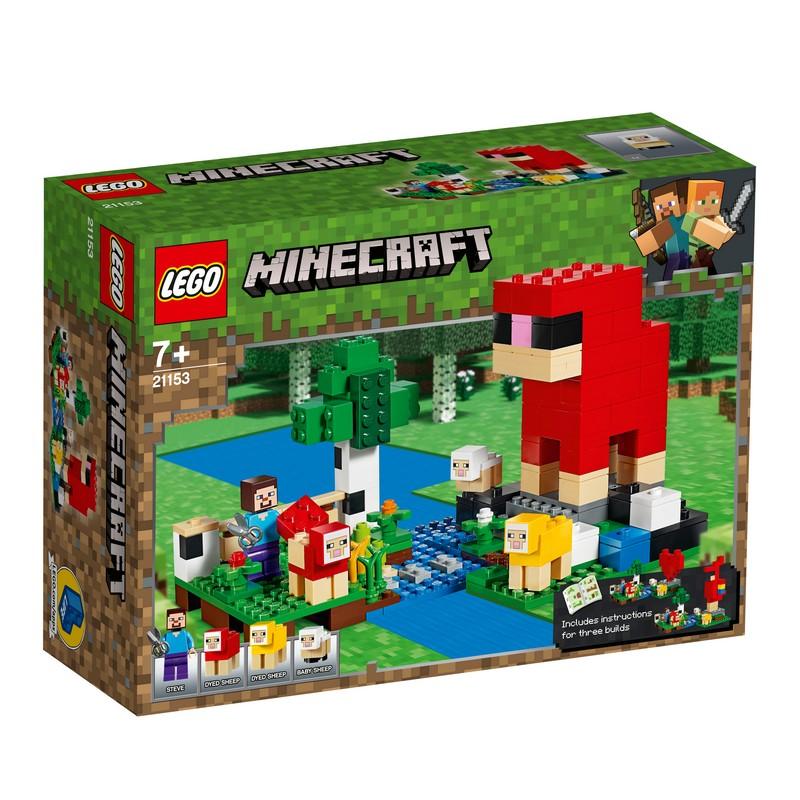 레고 마인크래프트 양털 농장 21153, 혼합 색상