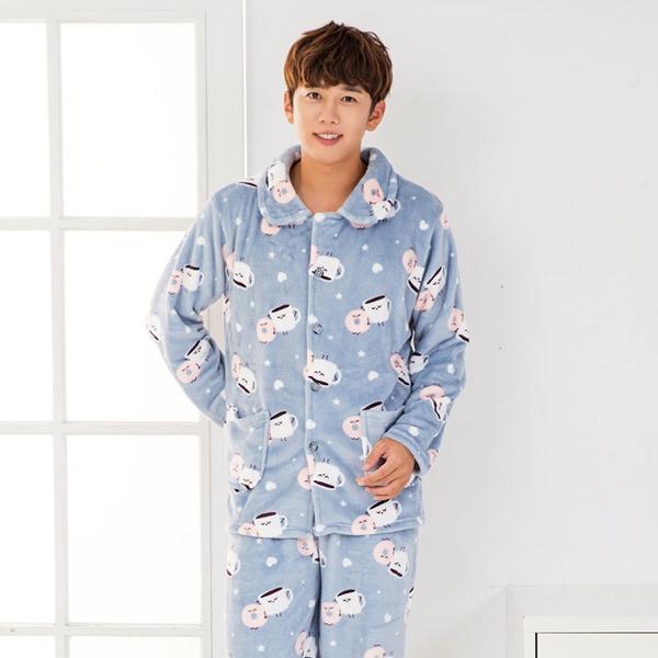 씨엘스토리 남성용 스윗에그 수면 잠옷세트