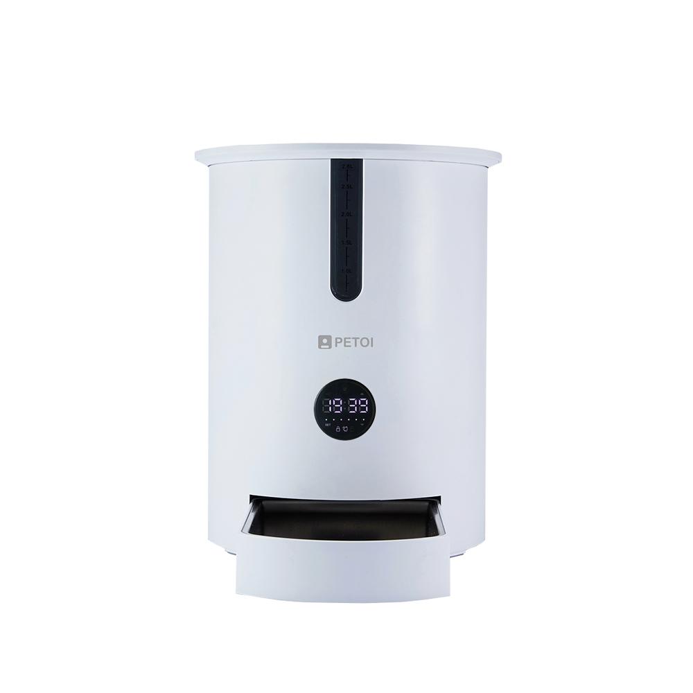 페토이 반려동물 자동급식기 HT-P006X, 2.8L, 화이트