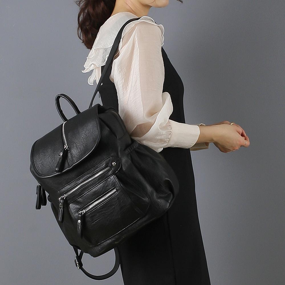 루루백 여성용 코담 백팩