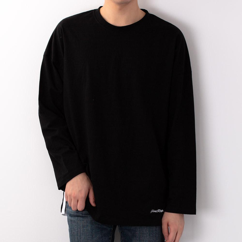 고스트리퍼블릭 남성용 팔포 오버핏 긴팔 티셔츠 GLT-944