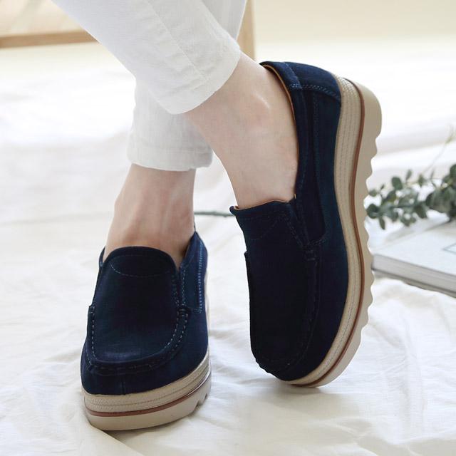 트윙키걸 스웨이드 통굽 로퍼 블로퍼 단화 플랫슈즈 여자 여성 신발 구두 FT6500