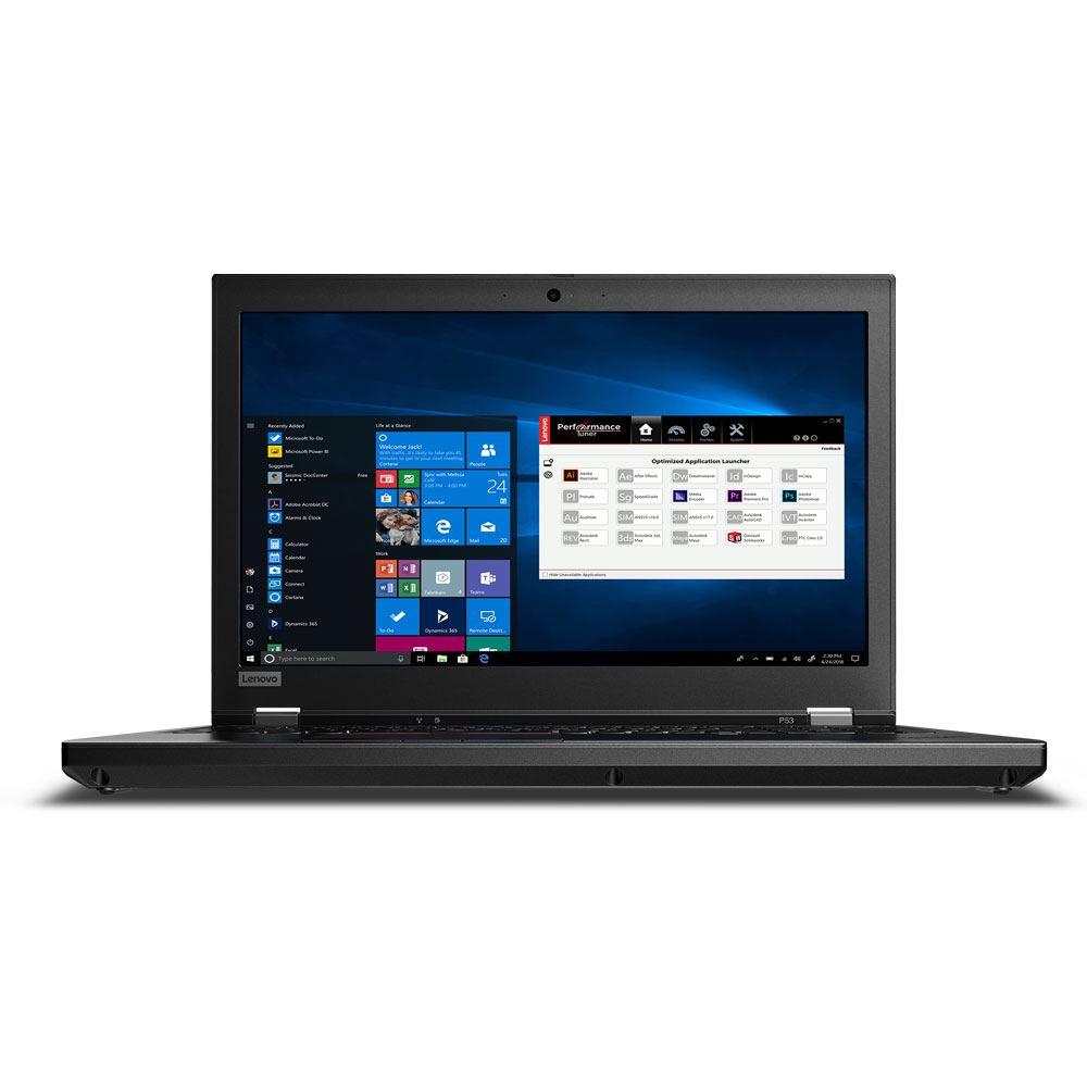 레노버 노트북 Thinkpad P53-2800 20QNSO2800 (9세대 i5-9400H 39.62cm WIN10Pro 8GB 256GB SSD Nvidia Quadro T1000 4GB), Black