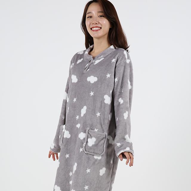 도씨 여성용 커플 수면잠옷 원피스 D9202