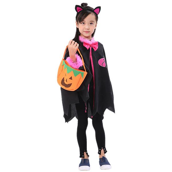하마테 아동용 할로윈 고양이망토 + 머리띠세트