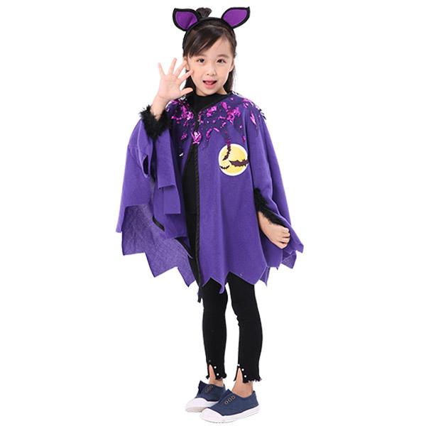 하마테 아동용 할로윈 박쥐망토 + 머리띠세트