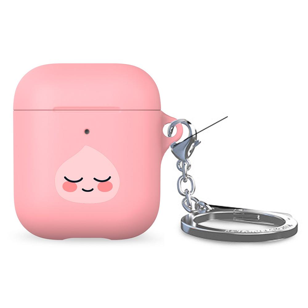 카카오프렌즈 에어팟 키링 하드케이스, 단일 상품, 핑크어피치