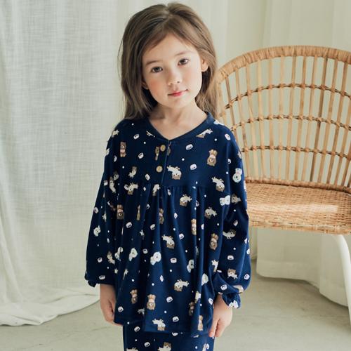 속옷미인 여아용 피치기모 포메 잠옷세트