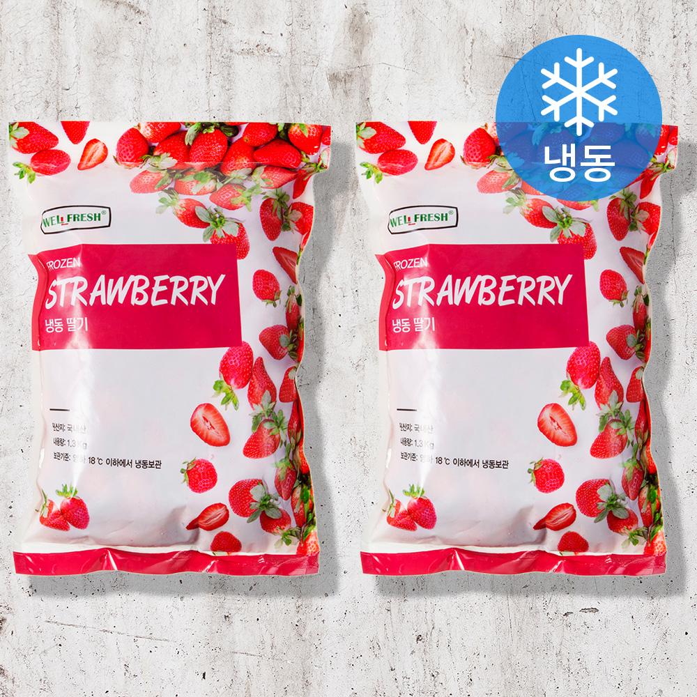 웰프레쉬 냉동 딸기 (냉동), 1.3kg, 2개