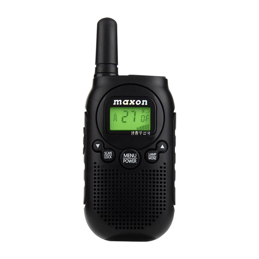 맥슨 생활 무전기 MCYY2018-2 블랙