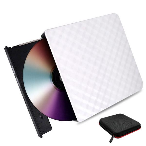 림스테일 USB 3.0 DVD RW 외장 ODD 화이트 + 파우치, LM-01