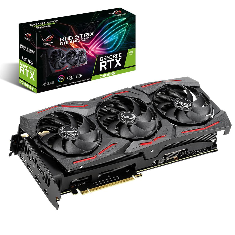 에이수스 ROG STRIX 지포스 RTX 2080 SUPER A8G GAMING D6 8GB 그래픽카드, 단일 상품