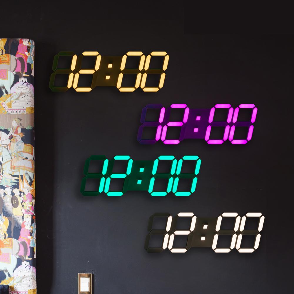 플라이토 컬러 3D LED 벽시계 시즌4 384mm, 화이트