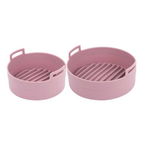 이지프라이팟 실리콘 찜기 대 소 세트, 핑크, 1세트