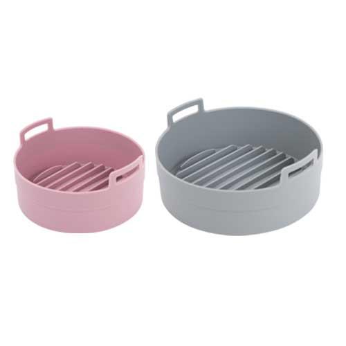 이지프라이팟 실리콘 찜기 대 소 세트, 대(그레이), 소(핑크), 1세트