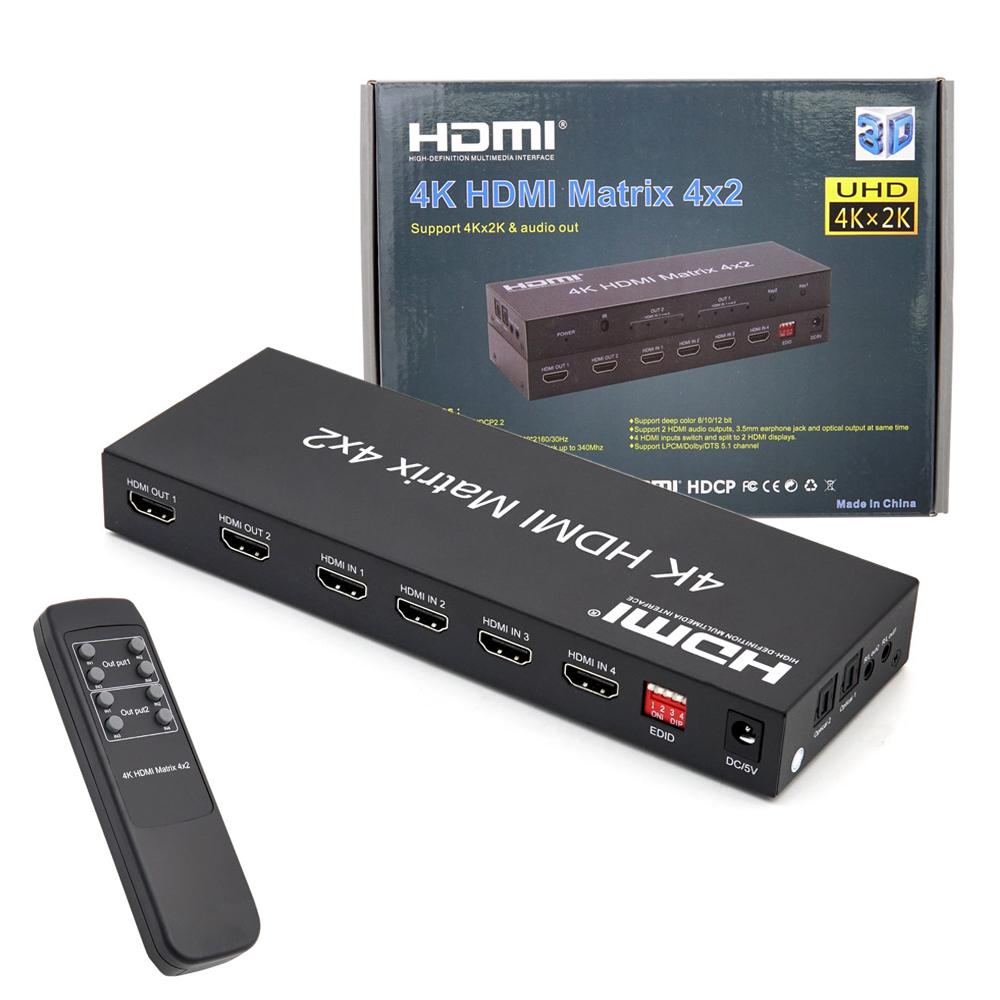 컴스 4K HDMI 4대2 선택기 매트릭스, BT553