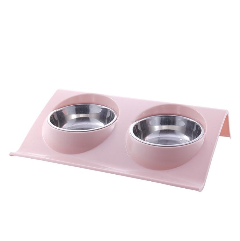 파스텔독 강아지 흘림방지 식기 소형, 핑크, 1개