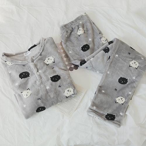 글램공감 커플 밍크네로 수면잠옷 라운드투피스