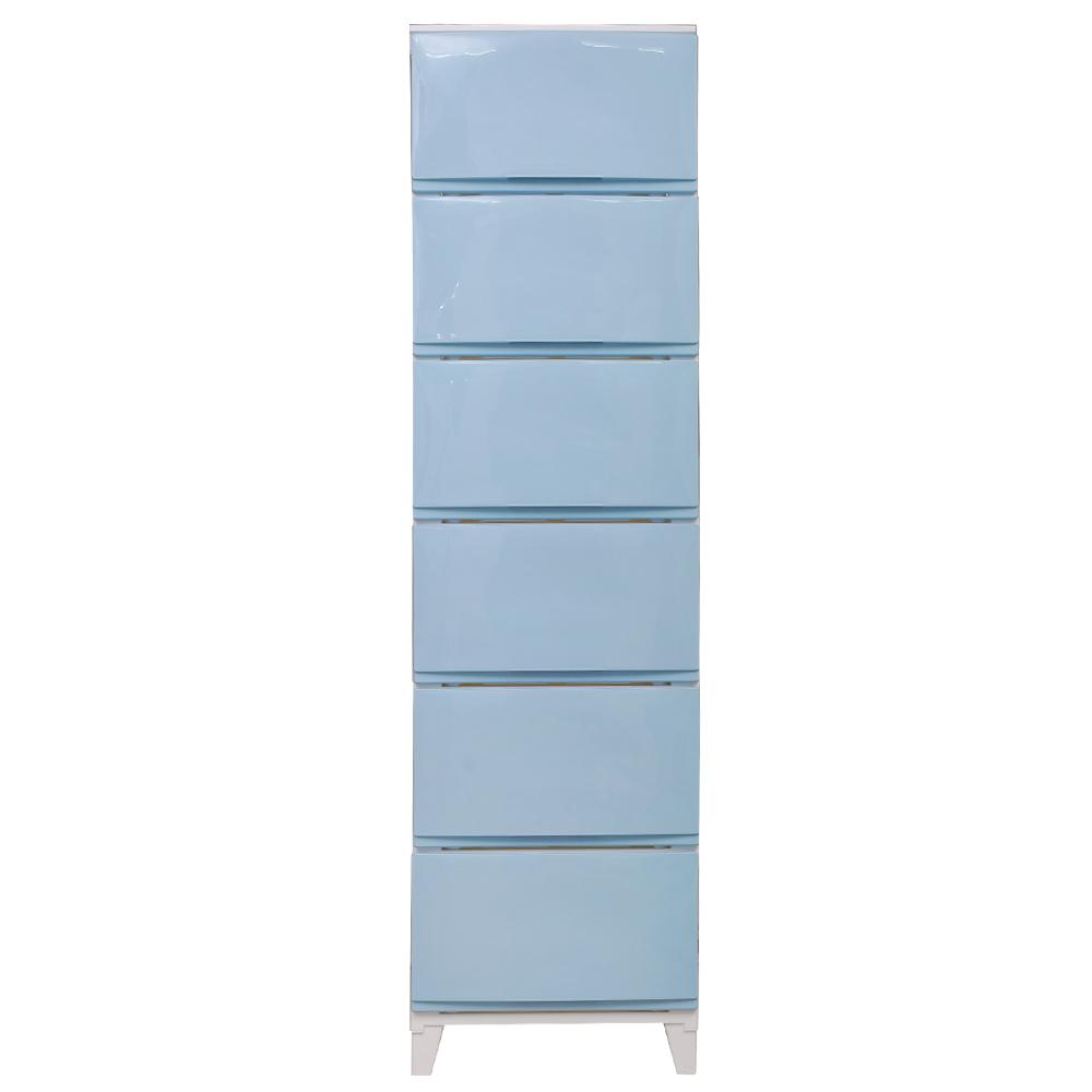 모던 에센셜 서랍장 6단, 블루, 1개