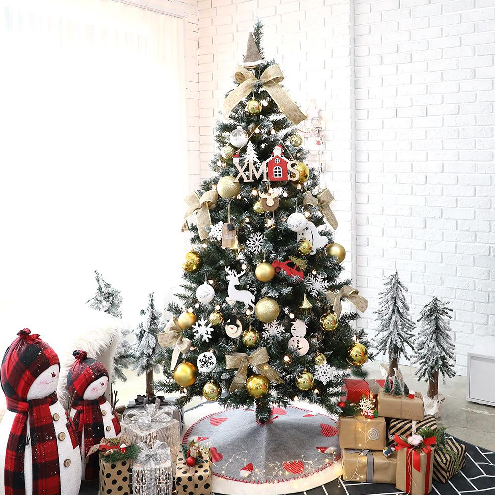 조아트 크리스마스 트리 풀세트 + 윈도우 데코스티커, 엘도라도골드