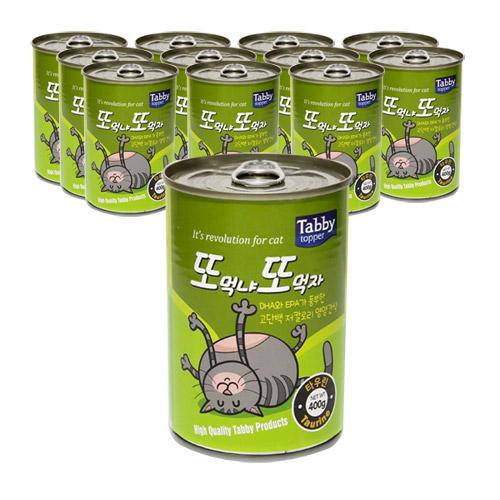 테비 또또캔 고양이간식 참치 400g, 참치 + 타우린 혼합맛, 12개