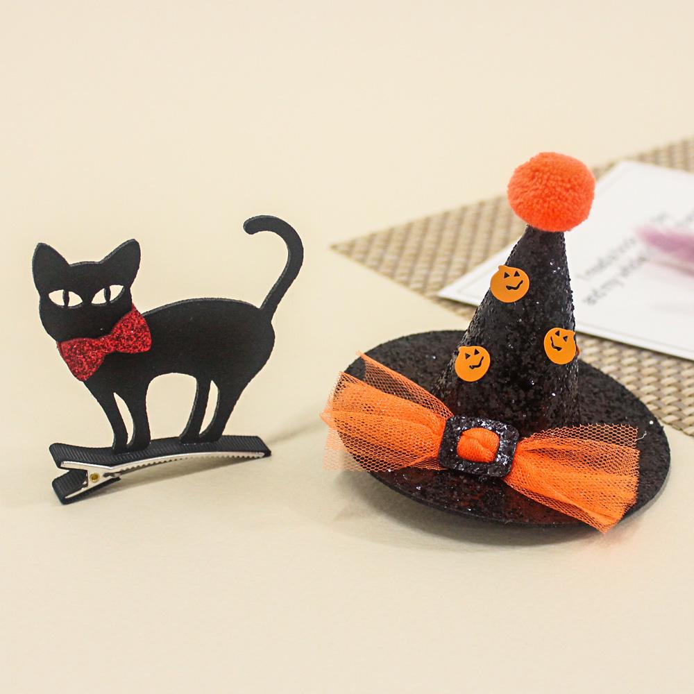 비단길 턱시도 고양이 + 고깔모자핀 세트