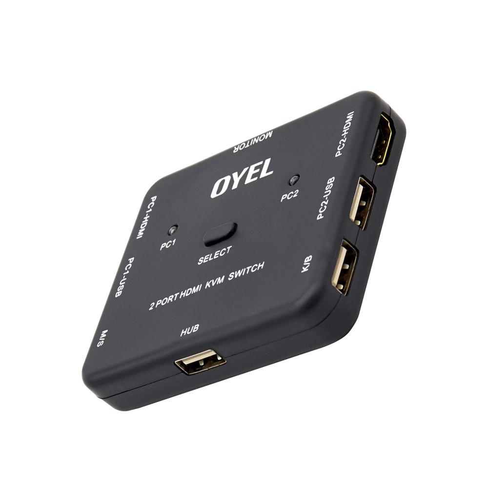 컴스 4K HDMI 2대1 KVM 스위치, BT557