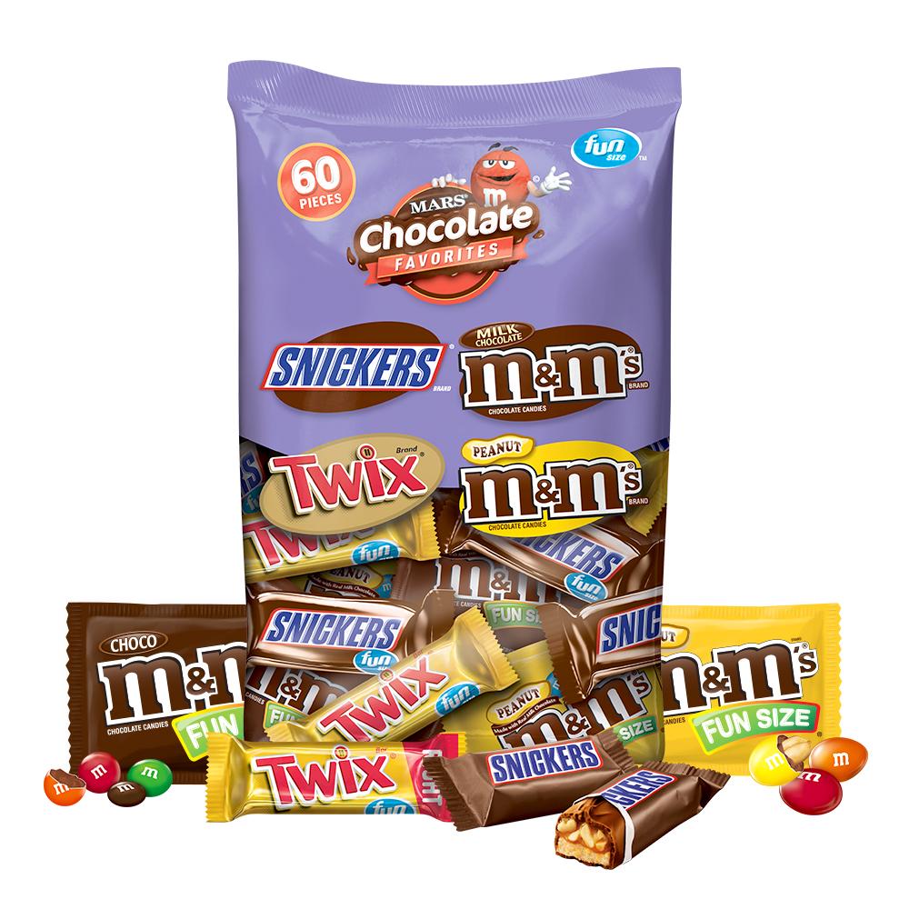 마즈 엠앤엠즈 스니커즈 트윅스 믹스드 펀사이즈 버라이티팩 초콜릿, 961.1g, 1개