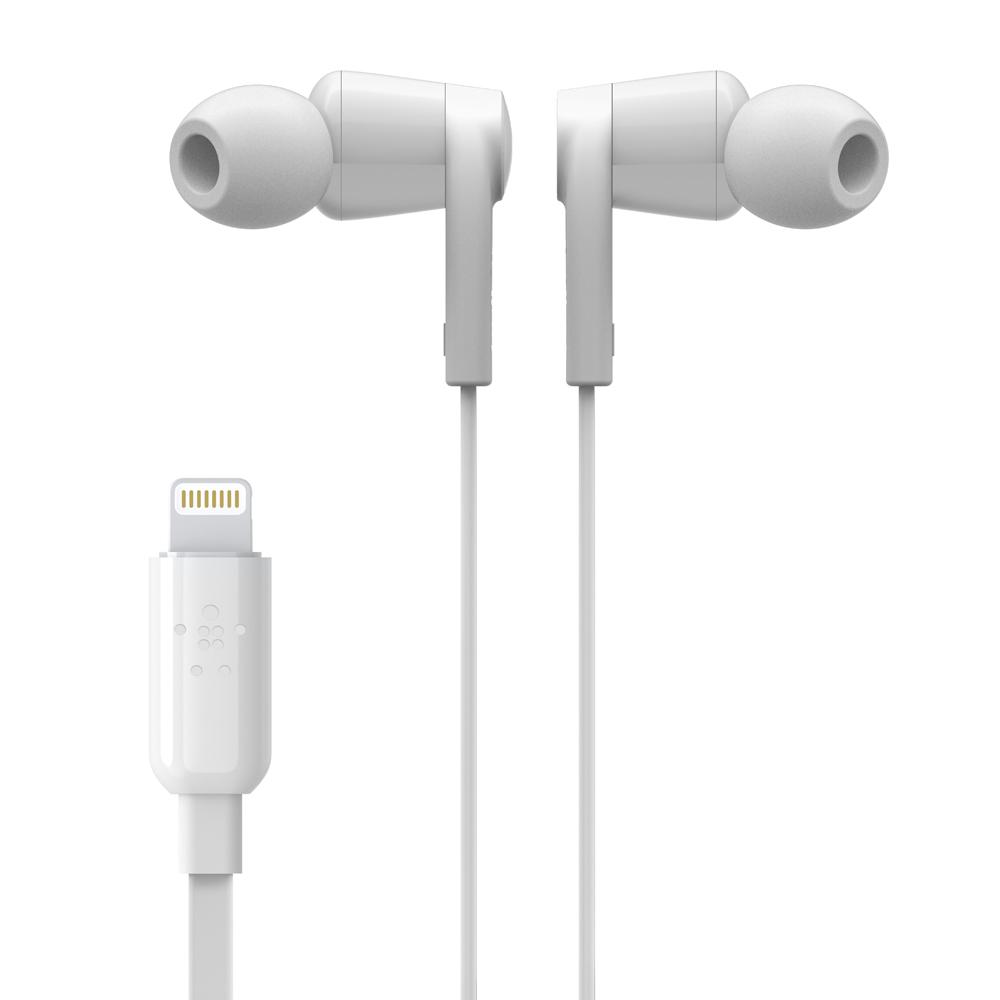 벨킨 아이폰 아이패드용 라이트닝 이어폰, G3H0001btWHT, 화이트